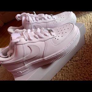 white woman's air force 1's